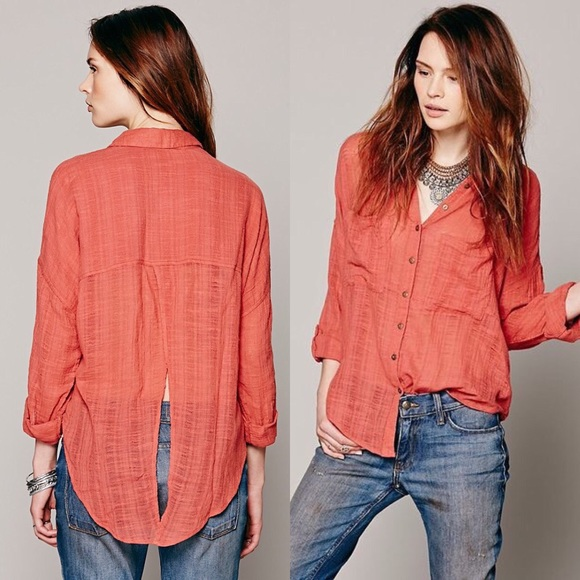 5afd9f967 Free People Tops - Free People | Shibori Siren Button Down Top